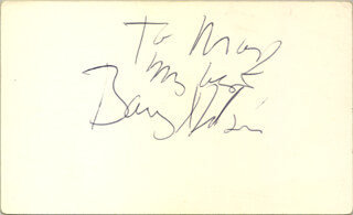 BARRY NELSON - AUTOGRAPH NOTE SIGNED