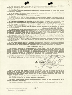 RITA THE LOVE GODDESS HAYWORTH - CONTRACT SIGNED 09/18/1944