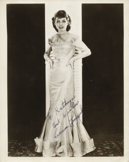 FRANCES LANGFORD - AUTOGRAPHED INSCRIBED PHOTOGRAPH CIRCA 1936