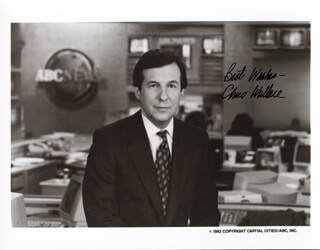 CHRIS WALLACE - AUTOGRAPHED SIGNED PHOTOGRAPH CIRCA 1982