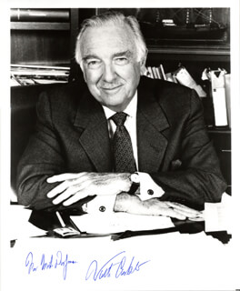WALTER CRONKITE - AUTOGRAPHED INSCRIBED PHOTOGRAPH