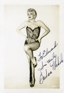 BARBARA NICHOLS - AUTOGRAPHED INSCRIBED PHOTOGRAPH