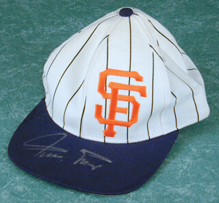 WILLIE SAY HEY KID MAYS - HAT SIGNED