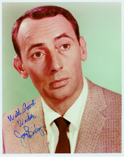 JOEY BISHOP - AUTOGRAPHED SIGNED PHOTOGRAPH