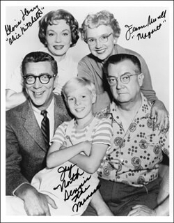 DENNIS THE MENACE TV CAST - AUTOGRAPHED SIGNED PHOTOGRAPH CO-SIGNED BY: GLORIA HENRY, JAY NORTH, JEANNE RUSSELL