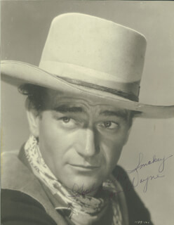 JOHN DUKE WAYNE - AUTOGRAPHED INSCRIBED PHOTOGRAPH