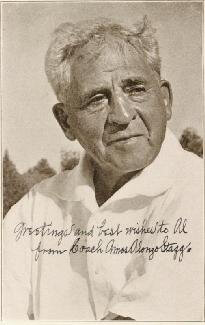 AMOS ALONZO STAGG - INSCRIBED MAGAZINE PHOTO SIGNED