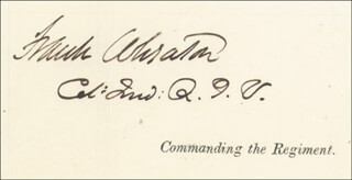Autographs: MAJOR GENERAL FRANK WHEATON - MANUSCRIPT DOCUMENT SIGNED