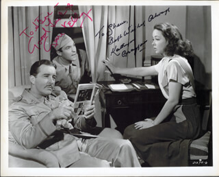 GENE KELLY - AUTOGRAPHED INSCRIBED PHOTOGRAPH CO-SIGNED BY: KATHRYN GRAYSON