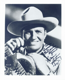 GENE AUTRY - AUTOGRAPHED SIGNED PHOTOGRAPH 01/09/1985