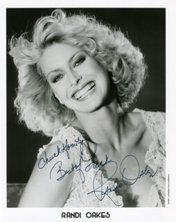 RANDI OAKES - AUTOGRAPHED INSCRIBED PHOTOGRAPH