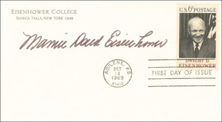 FIRST LADY MAMIE DOUD EISENHOWER - FIRST DAY COVER SIGNED