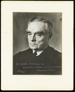 LEARNED HAND - AUTOGRAPHED INSCRIBED PHOTOGRAPH 02/16/1948