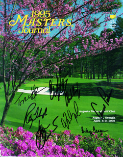 Autographs: ARNOLD PALMER - PROGRAM SIGNED CIRCA 1995 CO-SIGNED BY: CRAIG STADLER, BEN CRENSHAW, CHARLES COODY, FRED COUPLES, BILLY CASPER, TOM WATSON, RAY FLOYD