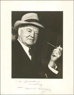 PRESIDENT HERBERT HOOVER - AUTOGRAPHED INSCRIBED PHOTOGRAPH