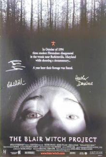 BLAIR WITCH PROJECT MOVIE CAST - AUTOGRAPHED SIGNED POSTER CIRCA 1999 CO-SIGNED BY: HEATHER DONAHUE, JOSHUA LEONARD, MICHAEL WILLIAMS