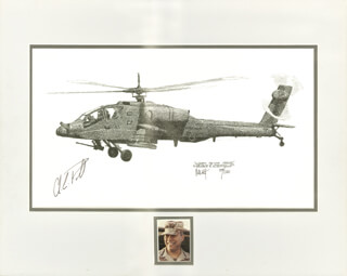 GENERAL COLIN L. POWELL - ILLUSTRATION SIGNED CO-SIGNED BY: JOE MILICH