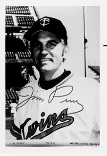 JIM PERRY - AUTOGRAPHED SIGNED PHOTOGRAPH