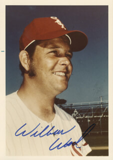 WILBUR WOOD - AUTOGRAPHED SIGNED PHOTOGRAPH