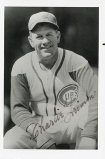 CHARLIE GRIMM - AUTOGRAPHED SIGNED PHOTOGRAPH