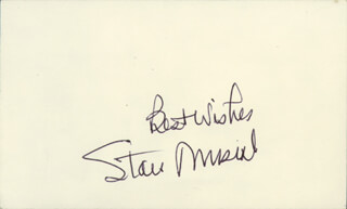 STAN THE MAN MUSIAL - AUTOGRAPH SENTIMENT SIGNED