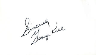 GEORGE KELL - AUTOGRAPH SENTIMENT SIGNED
