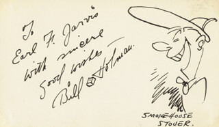 Autographs: BILL HOLMAN - INSCRIBED ORIGINAL ART SIGNED