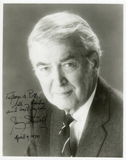 JAMES JIMMY STEWART - AUTOGRAPHED INSCRIBED PHOTOGRAPH 04/03/1980