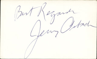 JERRY ORBACH - AUTOGRAPH SENTIMENT SIGNED