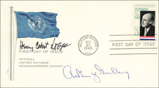 ASSOCIATE JUSTICE ARTHUR J. GOLDBERG - FIRST DAY COVER SIGNED CO-SIGNED BY: HENRY CABOT LODGE JR.