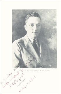 Autographs: REAR ADMIRAL RICHARD E. BYRD - INSCRIBED PHOTOGRAPH SIGNED 05/17/1928