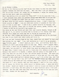 John Wayne Gacy Jr  - Typed Letter Signed 11/19/1989