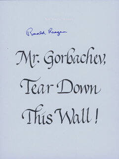 PRESIDENT RONALD REAGAN - QUOTATION SIGNED