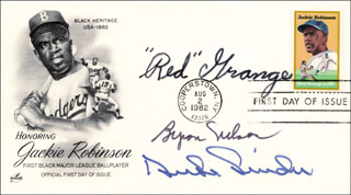 Autographs: RED GRANGE - FIRST DAY COVER SIGNED CO-SIGNED BY: BYRON NELSON, DUKE SNIDER