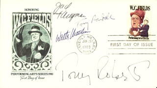 WALTER MATTHAU - FIRST DAY COVER SIGNED CO-SIGNED BY: TONY (ANTHONY) ROBERTS, JACK KLUGMAN, TONY RANDALL