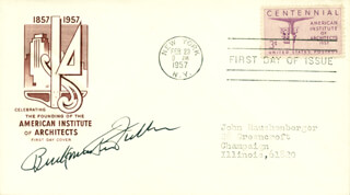 BUCKMINSTER FULLER - FIRST DAY COVER SIGNED