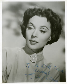LILLI PALMER - AUTOGRAPHED INSCRIBED PHOTOGRAPH