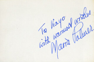 MARIA PALMER - AUTOGRAPH NOTE SIGNED