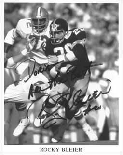 Autographs: ROBERT P. ROCKY BLEIER - PHOTOGRAPH SIGNED