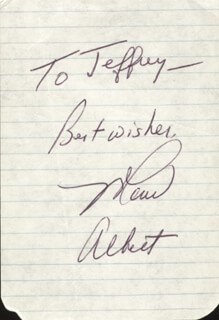 MARV ALBERT - AUTOGRAPH NOTE SIGNED