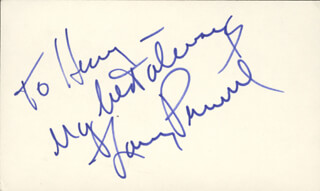 LARRY PENNELL - AUTOGRAPH NOTE SIGNED