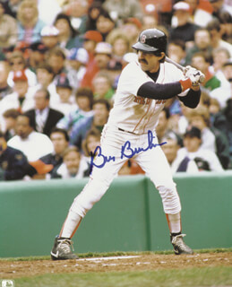 BILL BILLY BUCKS BUCKNER - AUTOGRAPHED SIGNED PHOTOGRAPH