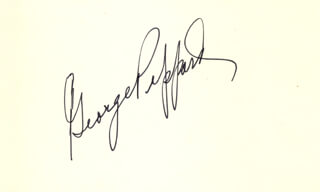 GEORGE PEPPARD - AUTOGRAPH