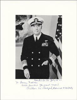 Autographs: ADMIRAL ARTHUR W. RADFORD - COLLECTION