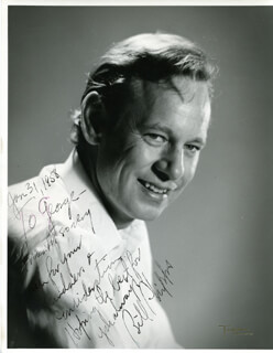 WILLIAM PHIPPS - AUTOGRAPHED INSCRIBED PHOTOGRAPH 01/31/1958