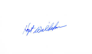 HOYT (JAMES) WILHELM - AUTOGRAPH