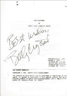 BILLY CRYSTAL - SCRIPT SIGNED CIRCA 1990