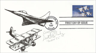 Autographs: SCOTT O'GRADY - FIRST DAY COVER WITH AUTOGRAPH SENTIMENT SIGNED