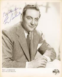GUY LOMBARDO ORCHESTRA (GUY A. LOMBARDO) - AUTOGRAPHED SIGNED PHOTOGRAPH