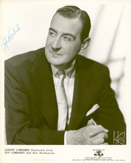 GUY LOMBARDO ORCHESTRA (LEBERT LOMBARDO) - AUTOGRAPHED SIGNED PHOTOGRAPH
